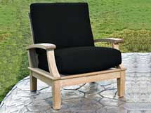 chair upholstered in black fabric