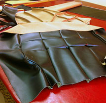 cutting recycled leather