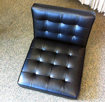 newly upholstered seat