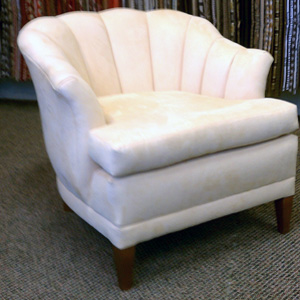 deco channel back occasional chair