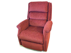 reupholstered power recliner