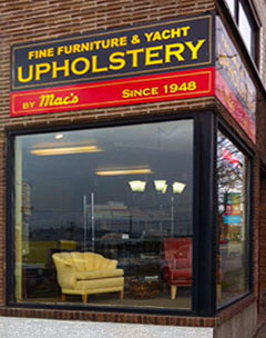 upholstery seattle sign